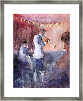 Jazz Nights Framed Print by Faruk Koksal