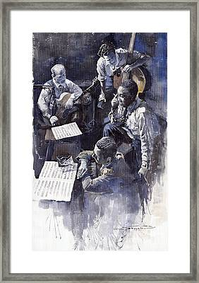 Jazz Parker Tristano Bauer Safransky Rca Studio Ny 1949 Framed Print by Yuriy  Shevchuk