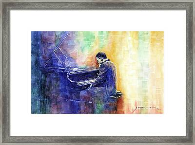 Jazz Pianist Herbie Hancock  Framed Print by Yuriy Shevchuk