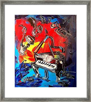 Jazz Piano Framed Print by Mark Kazav