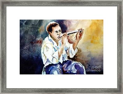 Jazz Player Framed Print by Joyce A Guariglia