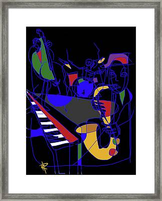 Jazz Quartet Framed Print by Russell Pierce