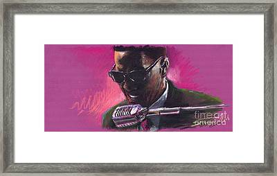 Jazz. Ray Charles.1. Framed Print by Yuriy  Shevchuk