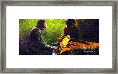 Jazz Ray Duet Framed Print by Yuriy  Shevchuk