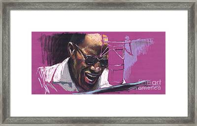 Jazz Ray Framed Print by Yuriy  Shevchuk