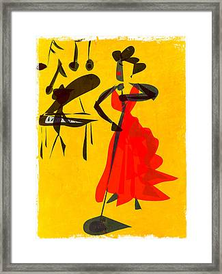 Jazz Review Framed Print by Betsey Walker Culliton