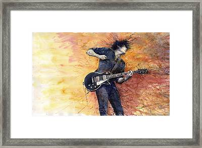 Jazz Rock Guitarist Stone Temple Pilots Framed Print by Yuriy  Shevchuk