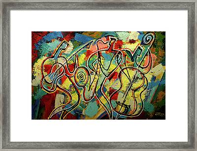 Jazz Rock Framed Print