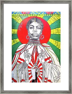 Jazz Saint Framed Print