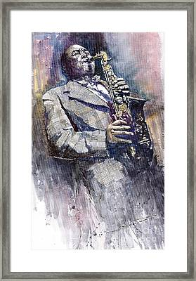 Jazz Saxophonist Charlie Parker Framed Print