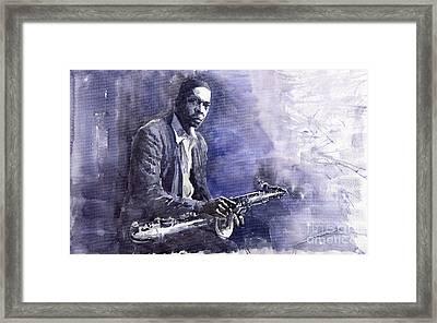 Jazz Saxophonist John Coltrane 03 Framed Print by Yuriy  Shevchuk