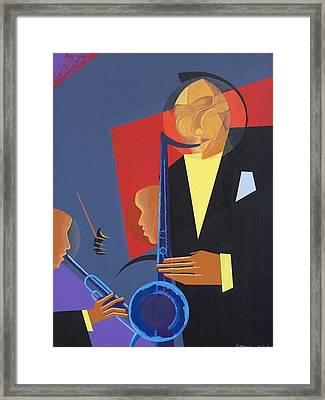 Jazz Sharp Framed Print by Kaaria Mucherera