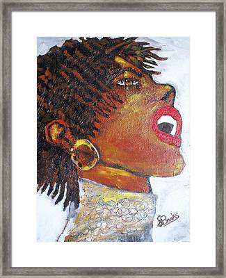 Jazz Singer Jade Framed Print