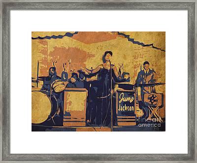 Jazz Singer Framed Print by Pablo Franchi