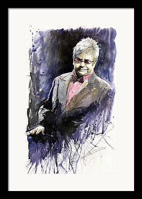 Elton John Framed Prints