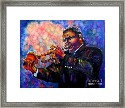 Jazz Solo Framed Print by Linda Marcille