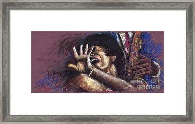 Jazz Song 1 Framed Print by Yuriy  Shevchuk