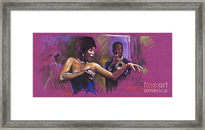 Jazz Song.2. Framed Print by Yuriy  Shevchuk