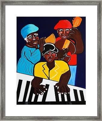 Jazz Sunshine Band Framed Print by Nora Shepley