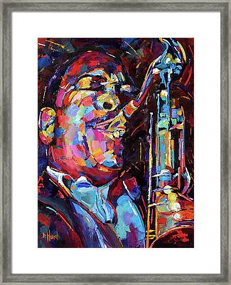 Jazz Trane Framed Print by Debra Hurd