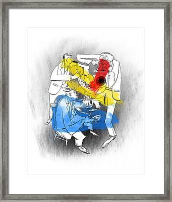 Jazz Trio Framed Print by Sean Hagan
