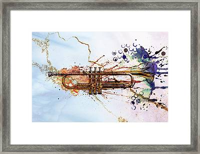 Jazz Trumpet Framed Print by David Ridley