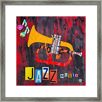 #jazz #trumpet #original #louisiana Framed Print