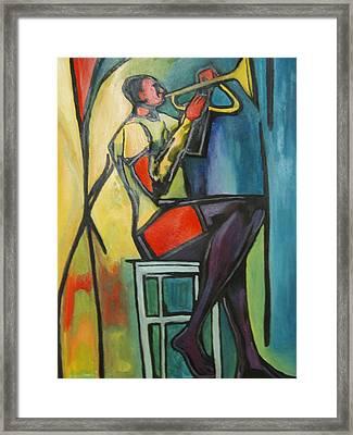 Jazz Trumpet Player Framed Print