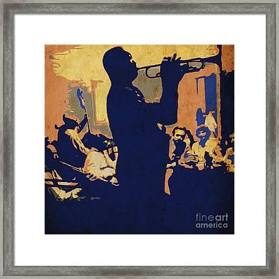 Jazz Trumpet Player Framed Print by Pablo Franchi