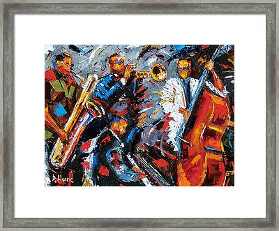 Jazz Unit Framed Print by Debra Hurd