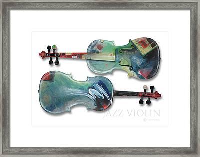 Jazz Violin - Poster Framed Print by Tim Nyberg