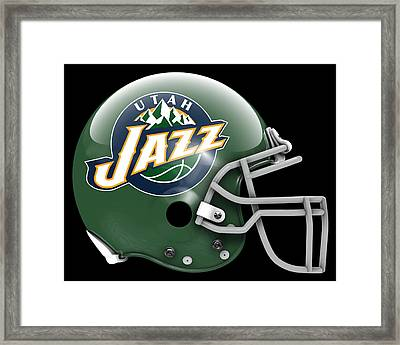 Jazz What If Its Football Framed Print by Joe Hamilton
