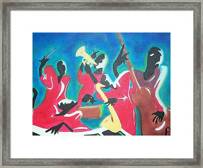 Jazz'en It Up Framed Print
