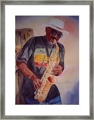 Jazzin' On The Boardwalk Framed Print by Vivian Larson