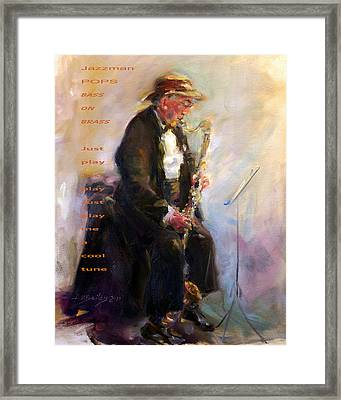 Jazzman Framed Print by Ann Bailey