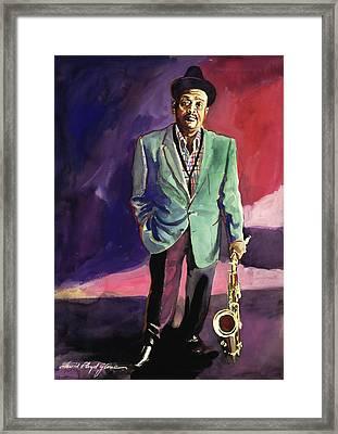Jazzman Ben Webster Framed Print by David Lloyd Glover