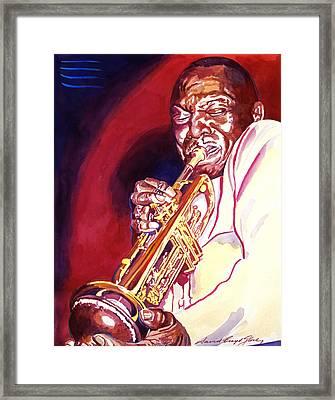 Jazzman Cootie Williams Framed Print by David Lloyd Glover