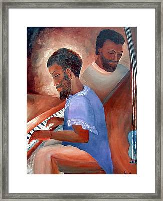 Jazzmen Framed Print by Alima Newton