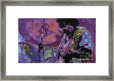 Jazz.miles Davis.4. Framed Print