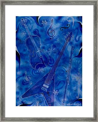 Jazzy And Icy Framed Print by Shellton Tremble
