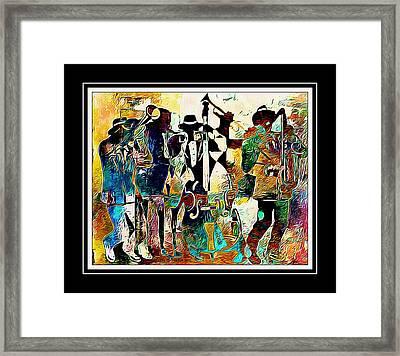 Jazzy Band Framed Print by Lynda Payton
