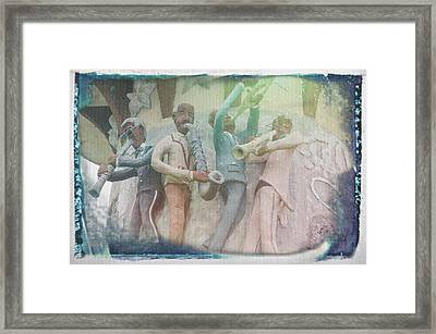 Jazzy Blues Framed Print by Jim Cook