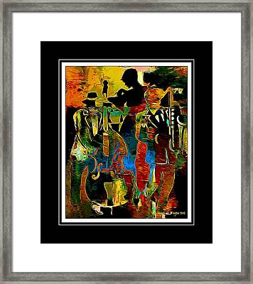 Jazzy Diva 2 Framed Print by Lynda Payton