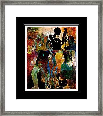 Jazzy Diva Framed Print by Lynda Payton