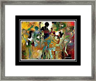 Jazzy Night 2 Framed Print by Lynda Payton