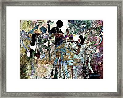 Jazzy Night 3 Framed Print by Lynda Payton