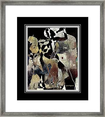 Jazzy Night 7 Framed Print by Lynda Payton