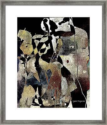 Jazzy Night 8 Framed Print by Lynda Payton