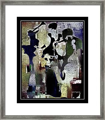 Jazzy Night 9 Framed Print by Lynda Payton