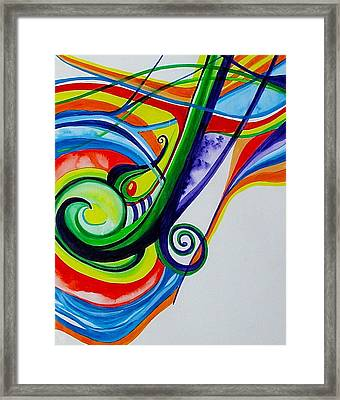 Jazzy Notes Framed Print by Erika Swartzkopf